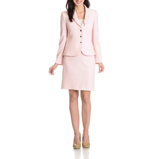 Tahari Arthur S. Levine Women's Bow Collar 2-piece Skirt Suit