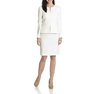 Tahari Arthur S. Levine Women's Pinktuck 2-piece Skirt Suit