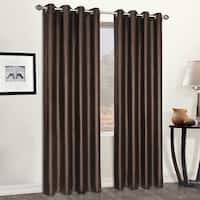 Luxury Collection Leather Luxury Grommet Top Faux Heavyweight Curtain Panel