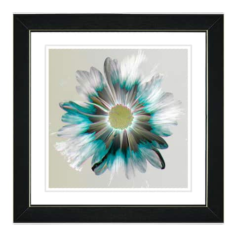 Studio Works Modern 'Winter Daisy' Wall Art Framed Fine Art Print