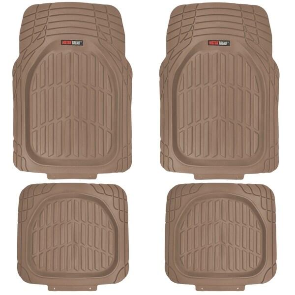 Motortrend flextough tortoise heavy duty rubber floor mats for Motor trend floor mats review