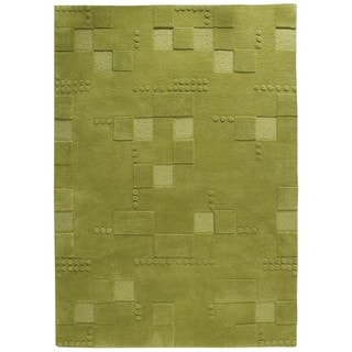 M.A. Trading Hand-tufted Indo Miami Green Rug (5'6 x 7'10)