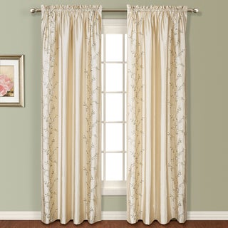 Addison Embroidered Faux Silk Curtain Panel Pair