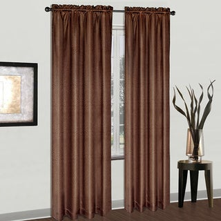 Luxury Collection Cyndee Croc Skin Curtain Panel Pair