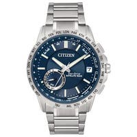 Citizen Men's CC3000-89L Blue Dial Satellite Wave-World Time GPS Stainless Steel Watch