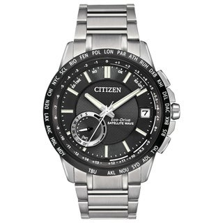 Citizen Men's CC3005-85E Satellite Wave-World Time Silvertone GPS Stainless Steel Watch