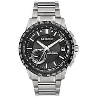 Citizen Men's  Satellite Wave-World Time Silvertone GPS Stainless Steel Watch