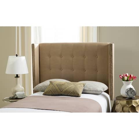 Safavieh Keegan Sandstone Linen Upholstered Wingback Headboard (Full)