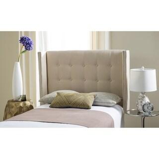 Safavieh Keegan Parchment Linen Upholstered Wingback Headboard (Full)