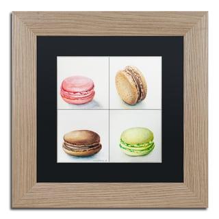 Jennifer Redstreake '4 Macarons' Matted Framed Art