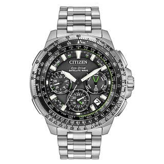 Citizen Men's CC9030-51E Promaster Navihawk GPS Stainless Steel Watch|https://ak1.ostkcdn.com/images/products/11551674/P18496006.jpg?impolicy=medium