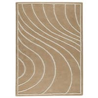 M.A.Trading Hand-Tufted Indo Lake Placid Cream Rug (5'6 x 7'10)