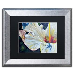 Jennifer Redstreake 'Hibiscus' Matted Framed Art