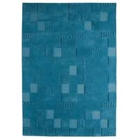 Handmade M.A. Trading Indo Miami Turquoise Rug - 8'3 x 11'6 (India)