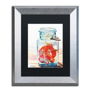 Jennifer Redstreake 'Ball Jar Ideal Peppers' Matted Framed Art