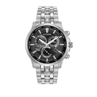 Citizen Men's BL8140-55E Calibre 8700 Black Dial Silvertone Stainless Steel Watch