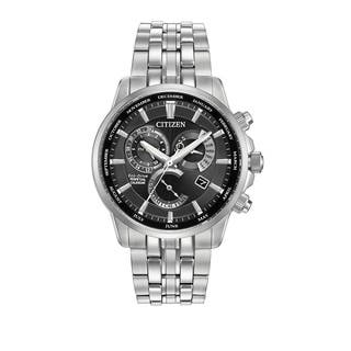 Citizen Men's BL8140-55E Calibre 8700 Black Dial Silvertone Stainless Steel Watch|https://ak1.ostkcdn.com/images/products/11551725/P18496199.jpg?impolicy=medium