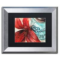 Jennifer Redstreake 'Ball Jar Red Lily' Matted Framed Art