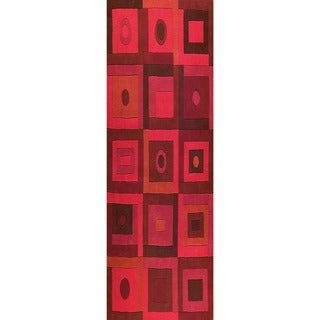 M.A. Trading Hand-tufted Indo Berlin Red Rug (2'8 x 7'10)