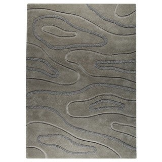 M.A.Trading Hand-Tufted Indo Agra Grey Rug (8'3 x 11'6)