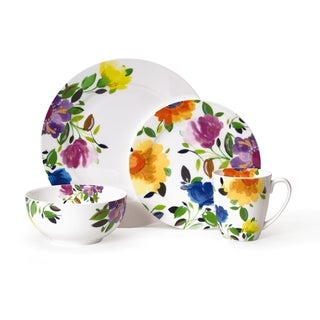 Kim Parker Provence Garden Porcelain Dinnerware Set (16-piece)