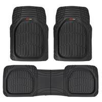 Motor Trend Heavy-duty FlexTough Black Rubber Contour Liners