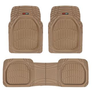 Motor Trend Beige FlexTough Contour Liners Heavy-duty Rubber Floor Mats