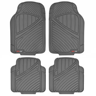 Motor Trend FlexTough Duty All-weather Gray 4-piece Rubber Floor Mats