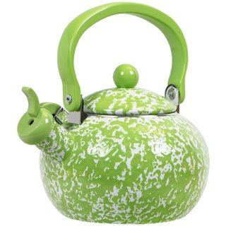 Reston Lloyd Calypso Basics Lime 2-quart Marble Whistling Teakettle