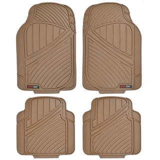 Motor Trend FlexTough All-weather Beige 4-piece Rubber Floor Mats