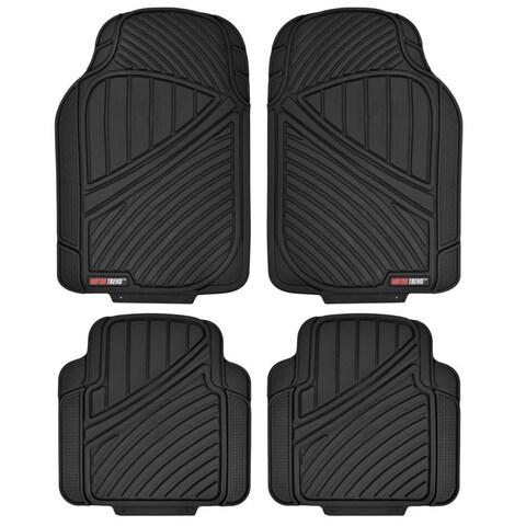 Motor Trend FlexTough All-weather Black 4-piece Rubber Floor Mats