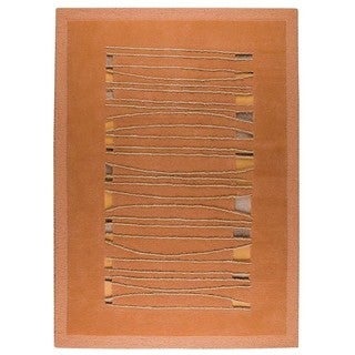 M.A. Trading Hand-tufted Indo Jamaica Orange Rug (8'3 x 11'6)