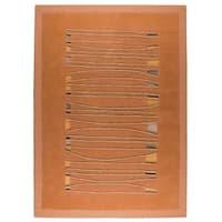 Handmade M.A. Trading Indo Jamaica Orange Rug (India)
