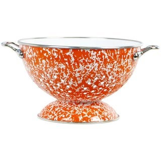 Reston Lloyd Calypso Basics Orange 3-quart Marble Colander