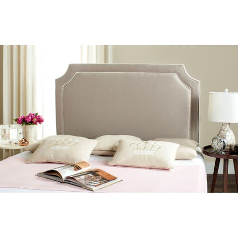 Safavieh Dane Grey/ White Piping Upholstered Headboard (Full)