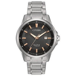 Citizen Men's AW1490-50E TI + IP Black Dial Silvertone Titanium Watch