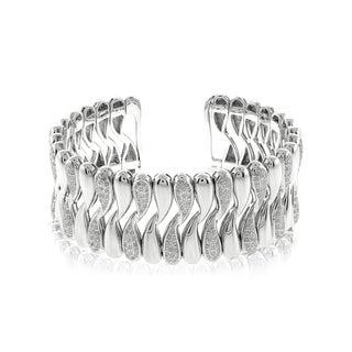 Sterling Silver 2 1/10ct TDW Diamond Bangle (I-J, SI1-SI2)