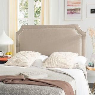 Safavieh Dane Grey/ White Piping Upholstered Headboard (Queen)