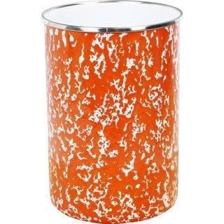 Reston Lloyd Calypso Basics Orange Marble Enamel Utensil Holder