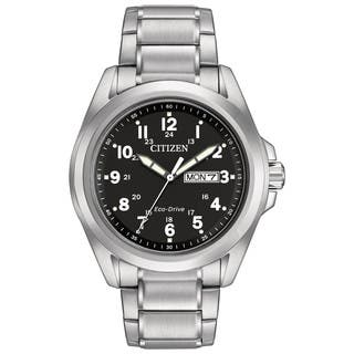 Citizen Men's AW0050-82E Sport Black Dial Silvertone Stainless Steel Watch|https://ak1.ostkcdn.com/images/products/11551917/P18496309.jpg?impolicy=medium