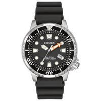 Citizen Men's  ISO-compliant Promaster Diver Black Dial Polyurethane and Stainless Steel Watch