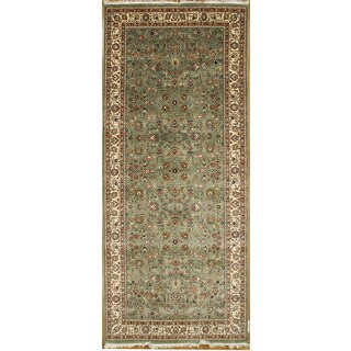 Hand Knotted Flat Weave Runner Rug - 3'6 x 10'3