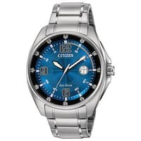 Citizen Men's  Drive WDR Collection Blue Dial Silvertone Stainless Steel Watch