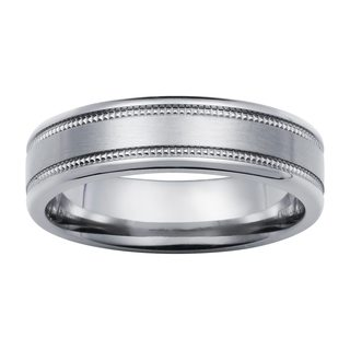 Boston Bay Diamonds Titanium Milgrain 6mm Ring