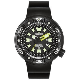 Citizen Men's BN0175-19E Promaster Diver Black Stainless Steel Watch