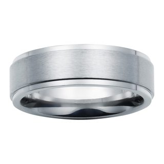 Boston Bay Diamonds Comfort Fit 7mm Titanium Wedding Band Ring