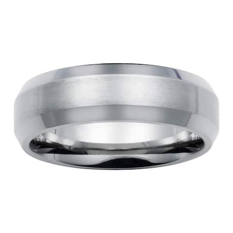 Boston Bay Diamonds Men's 7MM Comfort Fit Titanium Wedding Band Ring