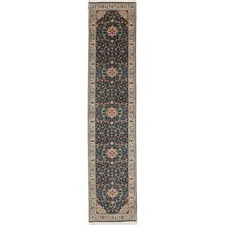Hand Knotted Flat Weave Runner (11'7 x 2'6)