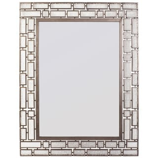 Varaluz Casa Harlowe Rectangular New Bronze Mirror with Textured Ice Glass