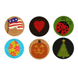 Set of 6 Holiday/Seasonal Inserts (Inserts are only available with doormat 15506052)